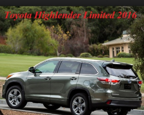 Toyota Highlender 3.5L Limited 2016